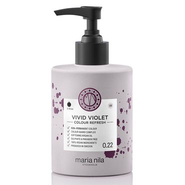 maria nila colour refresh bottle with black pump hair colour vivid purple