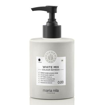 maria nila colour refresh bottle with black pump. hair colour white mix
